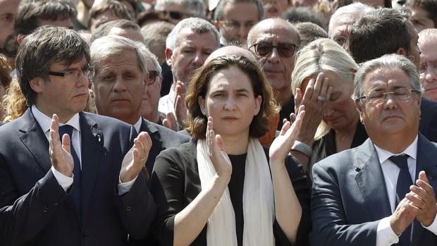 Colau y Puigdemont, durant euno de los múltiples actos celebrados estos días