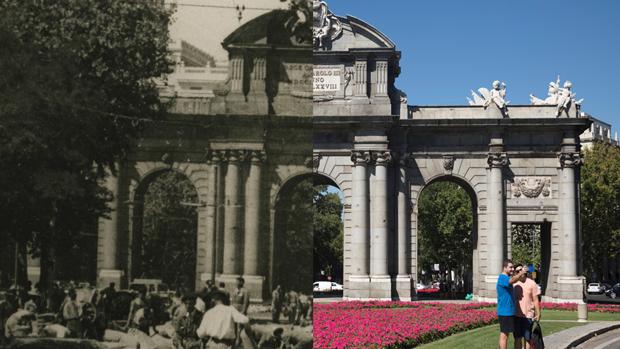El madrid en blanco y negro y en color desde la fortaleza rabe hasta la gran capital de hoy - Puerta de madrid periodico ...