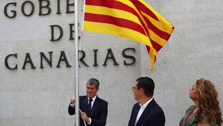 El presidente canario, Fernando Clavijo, este domingo
