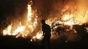 Un incendio reciente en Santiago de Compostela