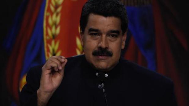 Nicolás Maduro durante una rueda de prensa en Miraflores