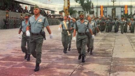 Luis Rubio, siendo comandante, en Fuerteventura, antes de morir en 1991