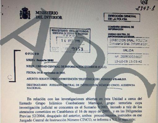 El 14 de septiembre de 2005 la Policía pidió al juez pinchar el teléfono de Es Satty por su relación con el Grupo Islámico Combatiente Marroquí