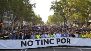 Cabecera de la manifestación celebrada esta tarde en Barcelona