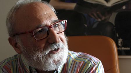 Juan Sánchez, durante un momento de la entrevista con ABC