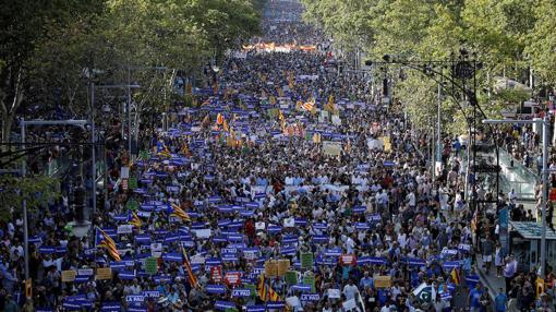 Imagen aérea de la manifestación