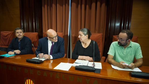 Lluís Corominas, Jordi Orobitg, Gabriela Serra y Benet Salellas