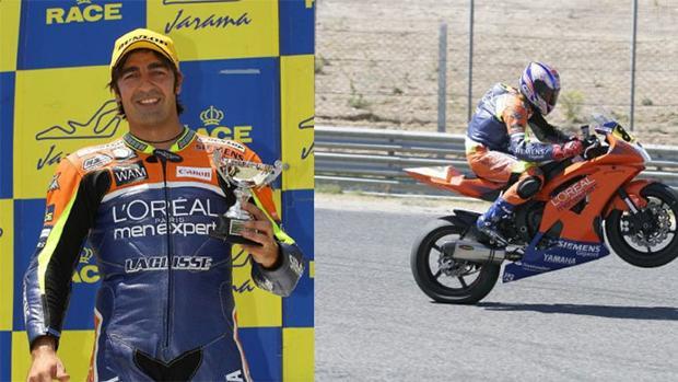 Bruno Nogués, con uno de sus trofeos