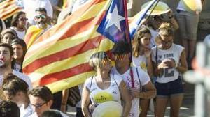Manifestación por la Diada en Cataluña