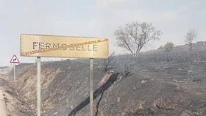 El incendio forestal del municipio zamorano de Fermoselle cumple una semana activo