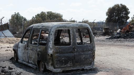 Naves ganaderas afectadas por incendio en la localidad zamorana de Fermoselle