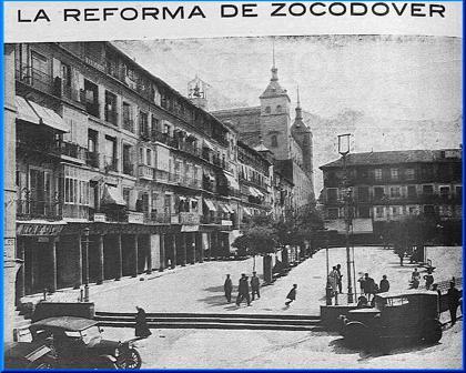 Reportaje en la revista Toledo (agosto de 1925) sobre el nuevo cambio en Zocodover que mantenía la misma forma desde 1865.