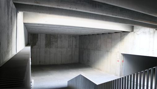 Parte del túnel donde el Consistorio planea instalar una sala de cine