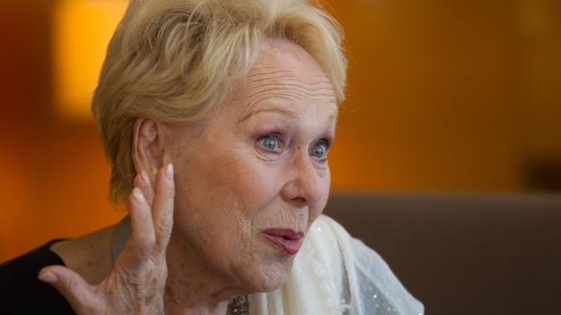 Renata Scotto, el pasado jueves, durante su entrevista con ABC