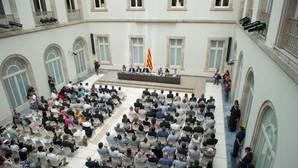 Reunión de la ley del referéndum de los independentistas en Cataluña