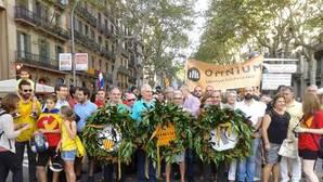 Imagen de archivo de miembros de ACPV durante la celebración de la Diada