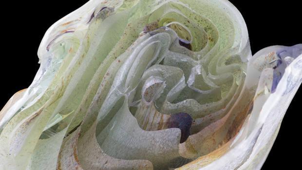 Una de las esculturas de la muestra
