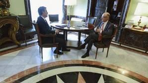 Aberto Núñez Feijjóo y Cristóbal Montoro, reunidos ayer en Madrid