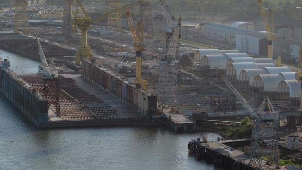 Dique seco de Avondale Shipyard