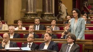Bancada del grupo de Junts Pel Sí en el Parlament