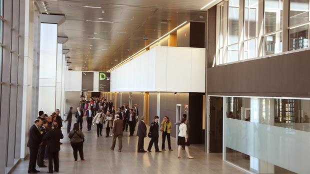 Instalaciones de la moderna Ciudad de la Justicia de Zaragoza, inaugurada hace cuatro años