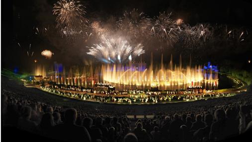 Hasta 13.200 espectadores pueden contemplar el espectáculo estrella, la Cinéscénie, que también se verá en Toledo
