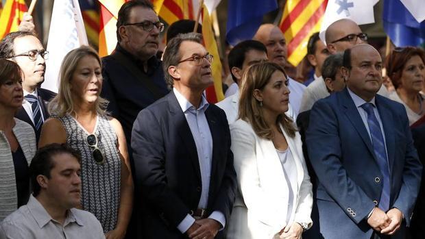 El expresidente de la Generalitat Artur Mas en la Diada