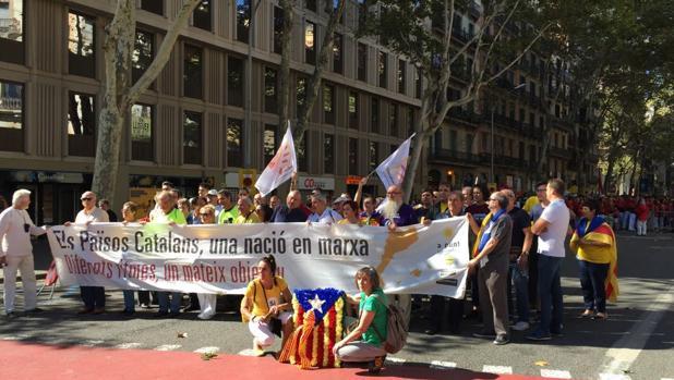 Imagen de los actos celebrados este lunes en Barcelona