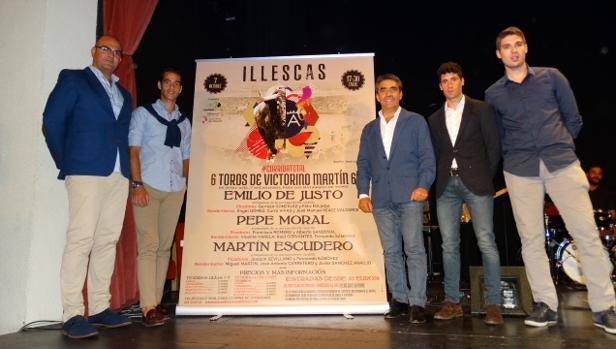 Los tres toreros que actuarán en Illescas el próximo 7 de octubre con el ganadero Victorino Martín