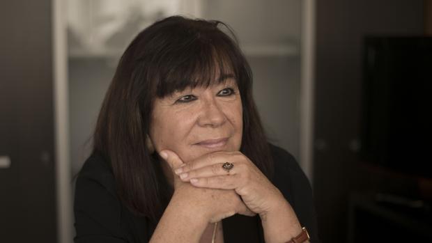 La presidenta del PSOE, durante la entrevista