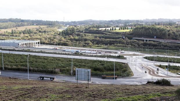 Parcelas desocupadas en el polígono da Sionlla, en Santiago de Compostela