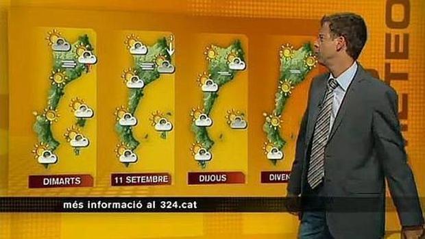 El tiempo en los «países catalanes», según TV3