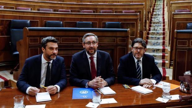 Los diputados autonómios de PP, PSOE y Cs en Murcia encargados de defender la reforma del estatuto