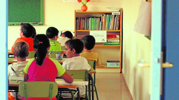 Alumnos de Infantil en una escuela de Barcelona