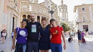Imagen de los dirigentes de la CUP en Valencia tomada este miércoles