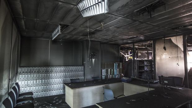 Imagen de una de las dependencias afectadas por el incendio