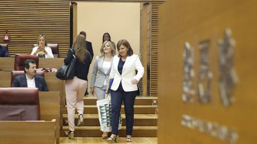 Imagen de Bonig y Ortiz a su llegada al pleno