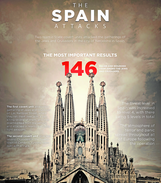 El Daesh utiliza una imagen del templo para amenazar a España