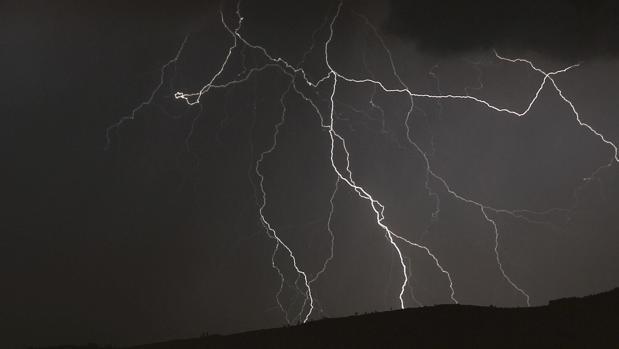 Tormenta eléctrica en una imagen de archivo