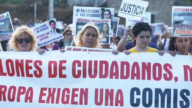 Marcha de protesta en el cuarto aniversario de la tragedia