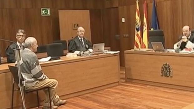 El acusado, durante el juicio