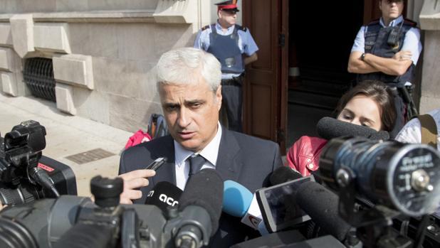 El exconseller Germá Gordó, a su salida de la declaración ante el TSJC