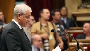 Gordó, en el Pleno del Parlamento catalán en el que se aprobó la ley de transitoriiedad