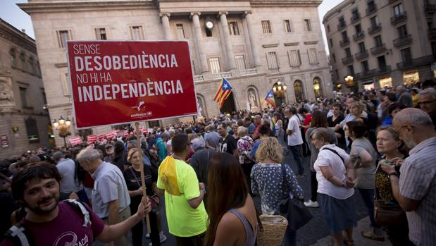 Protesta a favor del referéndum