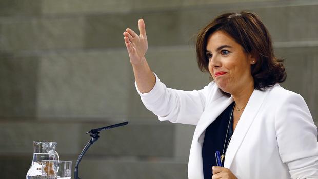 La vicepresidenta, ministra de la Presidencia y para las Administraciones Territoriales, Soraya Sáenz de Santamaría
