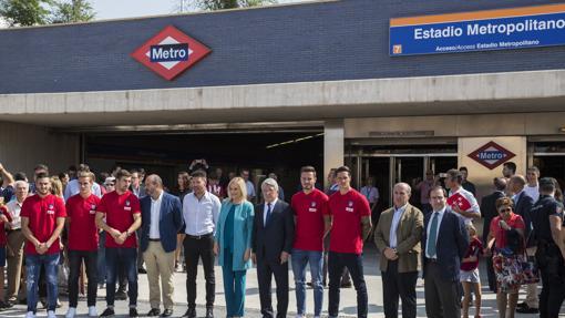 Atlético y Comunidad presentaron hace días la estación Estadio Metropolitano