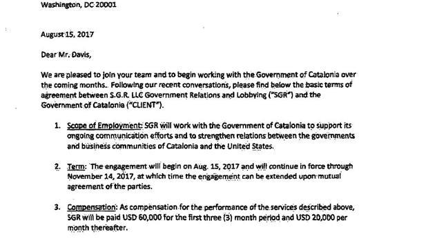 La Generalitat paga 60.000 dólares a un lobista investigado en una trama de sobornos