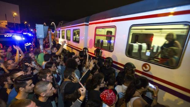 Imagen de una de las manifestaciones celebradas en Murcia en estos días