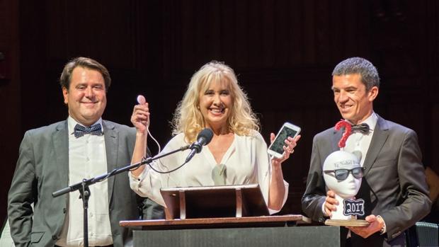 López-Teijón en la gala de recogida de premios el pasado jueves