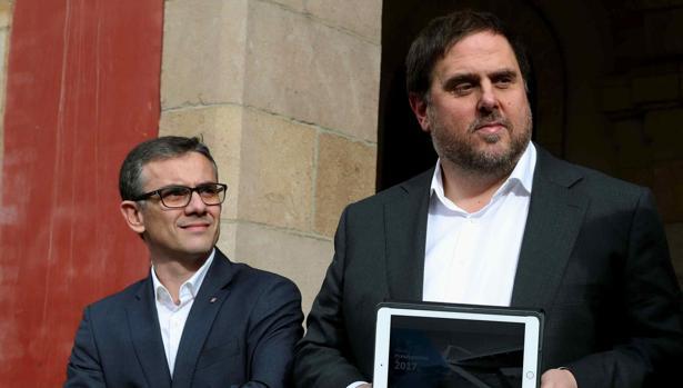 Josep Maria Jové, junto a Oriol Junqueras